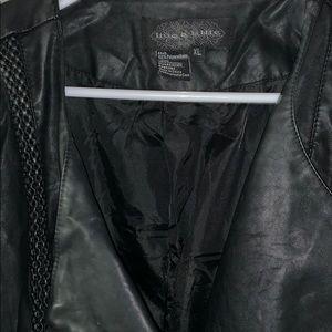 Live a Little, faux jacket Black